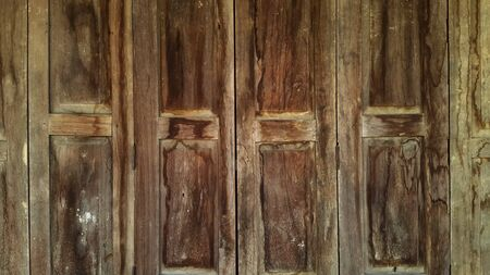 Old Chinese style wooden door