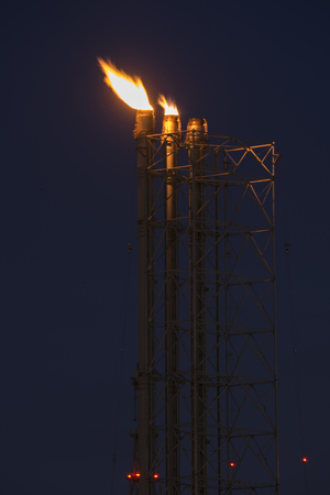 Flare stack industry safety equipment Stock Photo