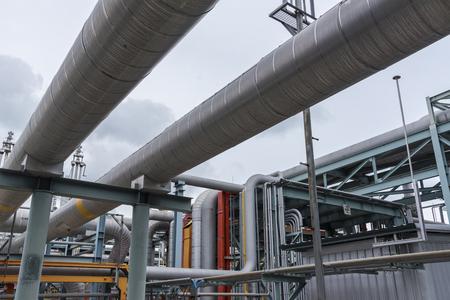 Pipeline in heavy industrial plant