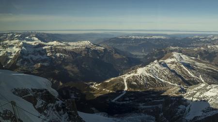 Jungfraujoch glacier snowcapped mountain range.