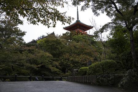 Kiyomizu dera temple, world buddhist heritage in Kyoto, Japan