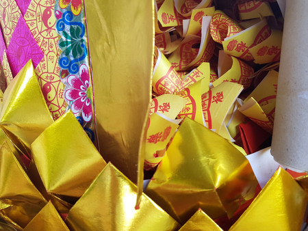 Chinese traitional gold paper use for .