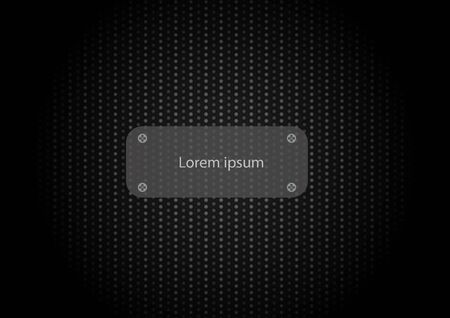 Abstract black vignette carbon fiber texture background with iron plate for title, graphic design.  イラスト・ベクター素材