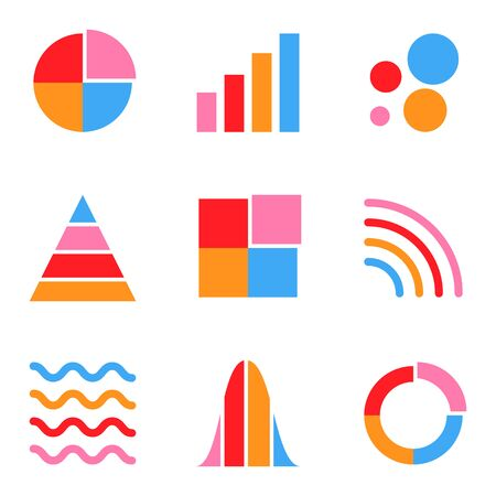 Mix concept graph chart and data analytics icon for infographic information presentation.