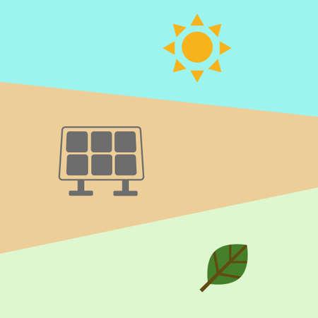 Energy innovation, Renewable solar radiation convert to renewable energy, Solar cell  panel equipment. Green distruption conservative 일러스트