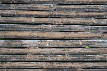 Old bamboo texture arrange in horizontal pattern for background