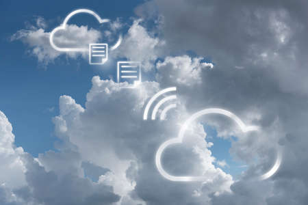 Infographic of cloudscape reflect to modern multi-cloud technology