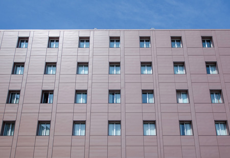 reverberation: facade building with windows