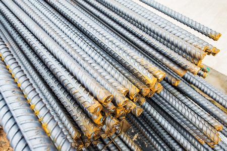 reinforcing: Steel bars close-up background. Reinforcing bar background.