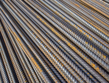 ripped metal: Steel bars close-up background. Reinforcing bar background.