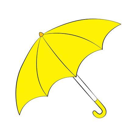 Vector cartoon umbrella on white background.