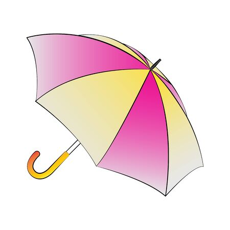fall protection: Vector cartoon umbrella on white background.