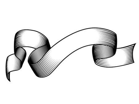 Vintage engraved banner. Grunge vector illustration.White background Vectores