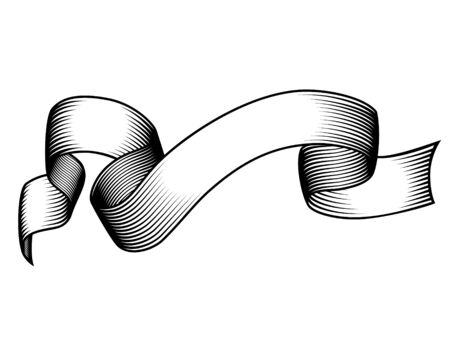 Vintage engraved banner. Grunge vector illustration.White background Stock Illustratie