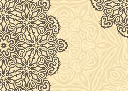 Vintage floral background in ethnic style. illustration Vectores