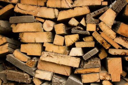 Pile of wood logs. Wood texture background