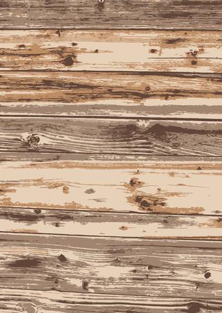 Old wood texture background. light wood. Vector illustration