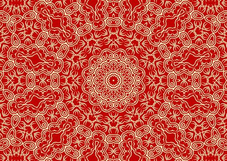 Vintage floral background in ethnic style. Vector illustration