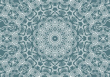 Vintage floral background in ethnic style. Vector illustration