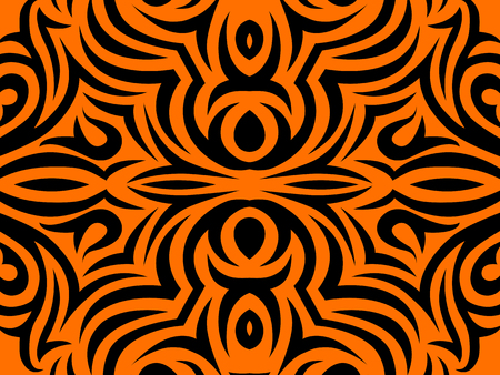 Abstract Orange and black background.