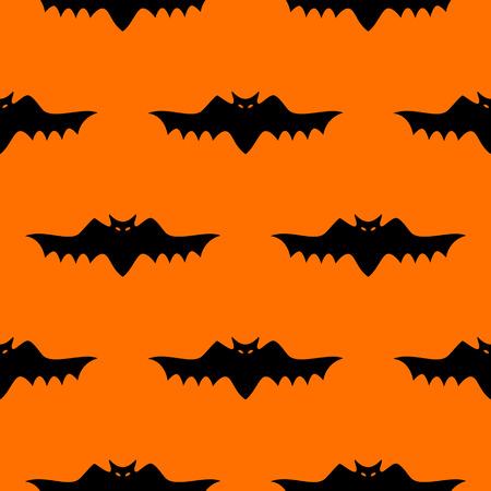 Bat silhouette seamless pattern.