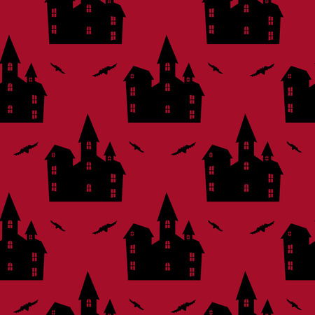 Halloween red seamless pattern.