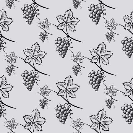 Seamless Pattern of Grape. Vectores