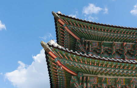 gyeongbokgung: Pavilion at Gyeongbokgung Palace in Seoul ,Korea