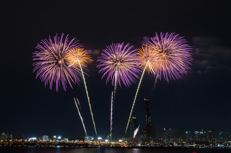 happening: Colorful fireworks in Seoul ,South Korea