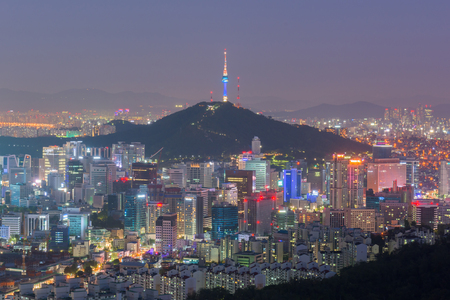 city by night: Seoul City Skyline, The best view of South Korea at Night