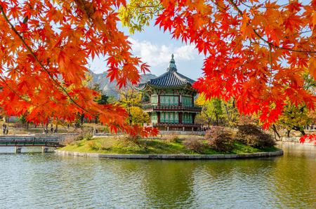 Automne du Palais Gyeongbokgung à Séoul, Corée