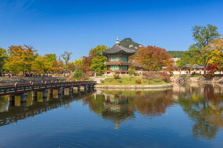 gyeongbokgung: Autumn of Gyeongbokgung Palace in Seoul ,Korea Editorial