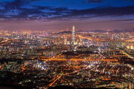 Korea,Seoul City Skyline , South Korea.