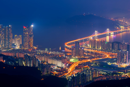 Busan City Skyline, The best view of Busan ,South Korea.