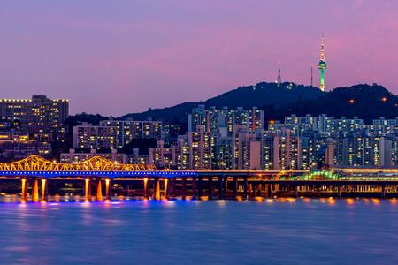 Korea,Seoul at night, South Korea city skyline.