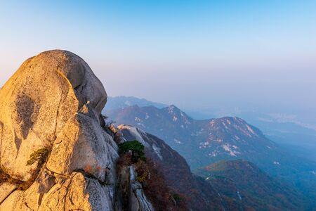 Autumn of Bukhansan Mountain in Seoul,South Korea.