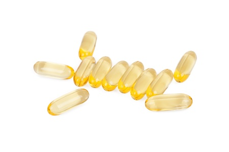Fish oil on a white background. photo
