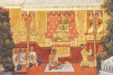 kaew: Murals at Wat Phra Kaew.