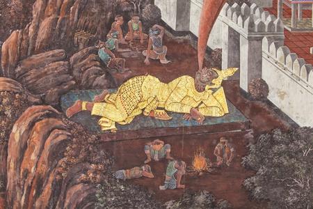 Murals at Wat Phra Kaew.