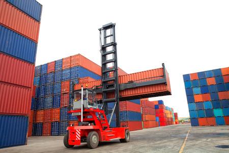 Conteneurs dans le port de Laem Chabang en Tha?lande Banque d'images