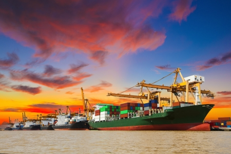 logistic: Shipping port in Thailand.