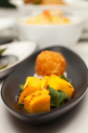 Mango sticky rice. photo