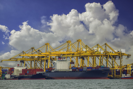 Shipping port in Thailand. photo