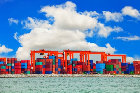 Shipping port in Thailand.