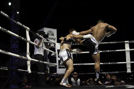 unrivalled: SATTAHIP, THAILAND- APRIL 6 : Between the punch  in Thai Fight : Muay Thai..Worlds  between Yodsanklai Fairtex (Thailand) VS Diogo cAlado (Portugal) in Thai Fight : Muay Thai..Worlds Unrivalled Fight on April 6, 2014 at King of muay thai , Chonburi , Th