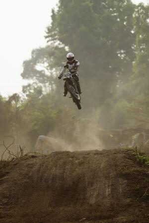 Biker making a stunt