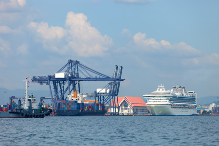 Sea cargo port in the country.