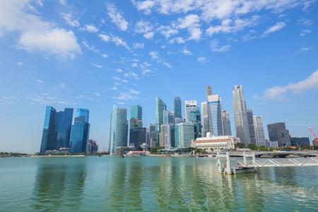 Singapore Skyline and view of Marina Bay.