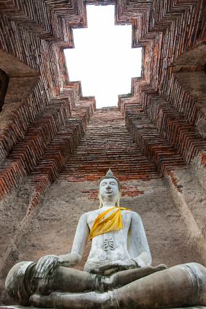 Buddha in the chimney is made of brick.