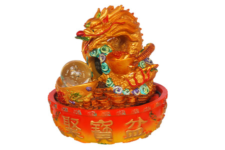 Chinese Dragon is symbol of lucky, isolate white background